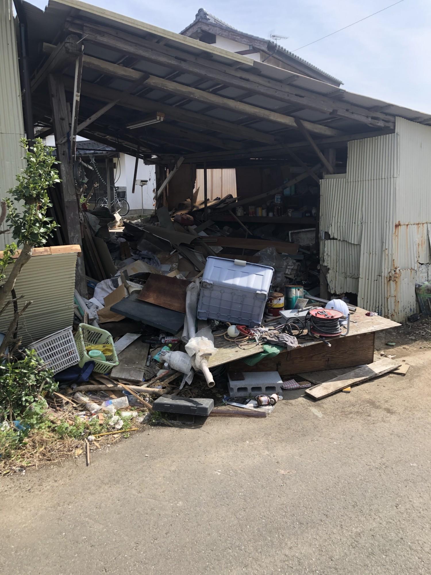 茨城県大洗 物置内処分